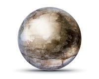 Krakingowa betonowa piłka ilustracja wektor