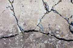 Krakingowa betonowa powierzchnia Obraz Stock