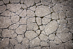 Krakingowa betonowa tekstura Obrazy Royalty Free