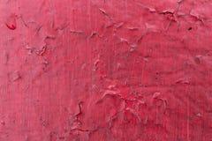 Krakingowa czerwona farby tekstura Zakończenie stara malująca czerwieni ściana grunge tła abstrakcyjne Rocznik drapająca powierzc Obraz Stock