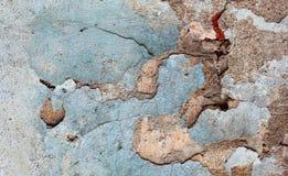 Krakingowa farby tekstura i drapający tynk zdjęcia royalty free
