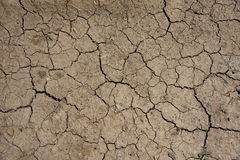 krakingowa glina mlejąca przy lato sezonem Obraz Stock