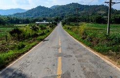 Krakingowa Halna droga w Thiland. Obraz Stock