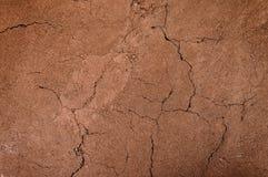 Krakingowa i jałowa ziemia, suchej ziemi textured tło, forma glebowe warstwy Zdjęcie Stock