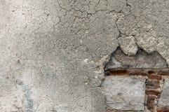 Krakingowa, obdrapana powierzchnia tynk na ścianie, Fotografia Royalty Free