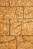 Krakingowa plakieta z Łacińskimi inskrypcjami i Romańskimi listami. Zdjęcia Royalty Free