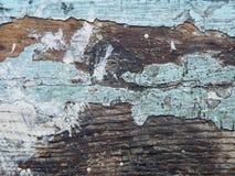Krakingowa tekstura farba Stara farba na drewnianym nawierzchniowym zakończeniu Widok wierzchołek, Makro- fotografia barwił tekst Obrazy Stock