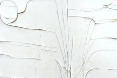 Krakingowa warstwa biała farba na ścianie Obrazy Stock