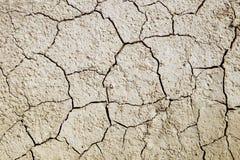 Krakingowa ziemia powodować suszą w lecie Obraz Stock