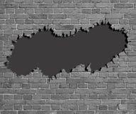 Krakingowy ściana z cegieł ilustracji