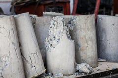 Krakingowy beton po badać obraz royalty free
