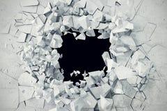 Krakingowy beton ziemi abstrakta tło świadczenia 3 d Zdjęcie Royalty Free