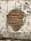 Krakingowy betonowy rocznika ściany tło, stara ściana fotografia royalty free
