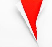 Krakingowy czerwieni papieru tło Fotografia Royalty Free