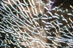 Krakingowy i łamany szklany okno Fotografia Royalty Free