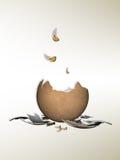 Krakingowy jajko ilustracja wektor