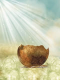 Krakingowy jajko royalty ilustracja