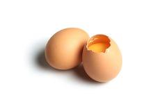 krakingowy jajko Zdjęcia Stock