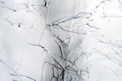 krakingowy lód Fotografia Stock