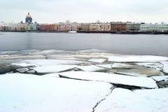 krakingowy lód Zdjęcia Stock