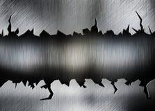 Krakingowy metalu tło royalty ilustracja