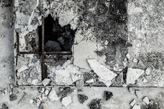 Krakingowy stary cement textured tło Fotografia Stock