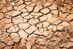 Krakingowy suchy ląd bez wody Zdjęcie Royalty Free