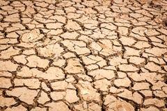 Krakingowy suchy ląd bez wody Obrazy Royalty Free