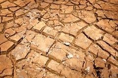 Krakingowy suchy ląd bez wody Obraz Royalty Free