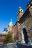 krakow Польша рокируйте wawel krakow средневековое мемориальное Польши истории Стоковые Изображения