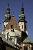 Krakow. Tops of the churches in Krakow Poland Stock Images