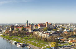 Krakow Aerial Panorama, Poland, Europe Royalty Free Stock Photo