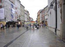 Krakow agosto 19,2014: Rua em Krakow, Polônia Fotografia de Stock