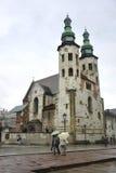 Krakow August 19,2014:Ancient Church in Krakow,Poland stock photography