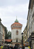 Krakow August 19,2014:Ancient Tower in Krakow,Poland Royalty Free Stock Images