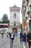 Krakow August 19,2014:Ancient Tower in Krakow,Poland Stock Photo