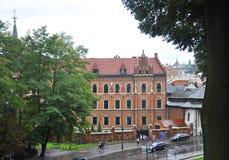Krakow August 19, 2014:Building in Krakow, Poland stock photography