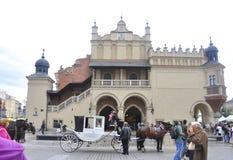 Krakow August 19,2014:The Cloth Hall entrance in Krakow,Poland Royalty Free Stock Image
