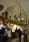 Krakow August 19,2014:The Cloth Hall interior in Krakow,Poland stock photo
