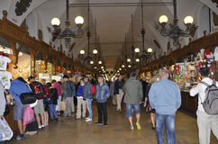 Krakow August 19,2014:The Cloth Hall interior in Krakow,Poland Stock Image
