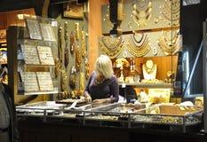 Krakow August 19,2014:The Cloth Hall interior in Krakow,Poland royalty free stock photos