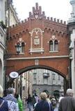 Krakow August 19,2014:Historic Path in Krakow,Poland stock photos