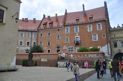 Krakow August 19,2014:Pope Paul II Statue in Krakow,Poland Stock Photos