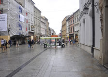 Krakow August 19,2014:Street in Krakow,Poland stock photography
