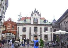 Krakow August 19,2014: Street in Krakow,Poland stock photos