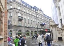 Krakow August 19,2014:Street view in Krakow,Poland Royalty Free Stock Photography