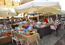 Krakow,august 19th 2014 - Market stall in Krakow,Poland Stock Images