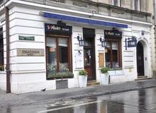 Krakow,august 19th 2014 - Restaurant in the historic center of Krakow,Poland stock image