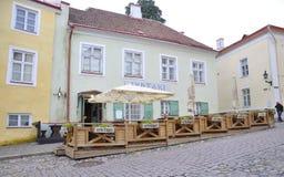 Krakow,august 19th 2014 - Terrace in the historic center of Krakow,Poland Royalty Free Stock Photos
