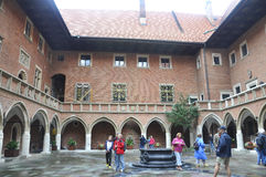 Krakow August 19,2014:The University Jagiellonskiego courtyard in Krakow,Poland Stock Image